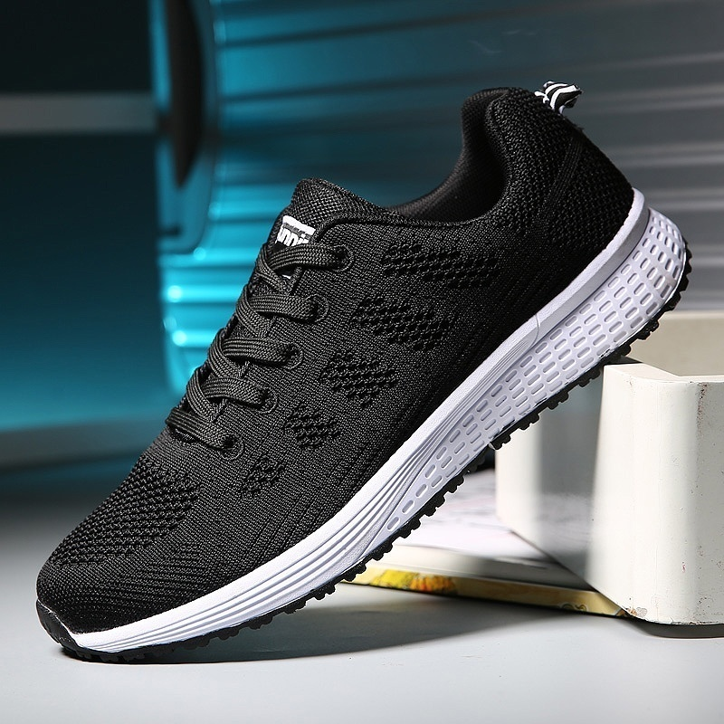 Fashion Women Sport Shoes Breathable Mesh Running Shoes Comfortable White Sneakers for Women Plus Size