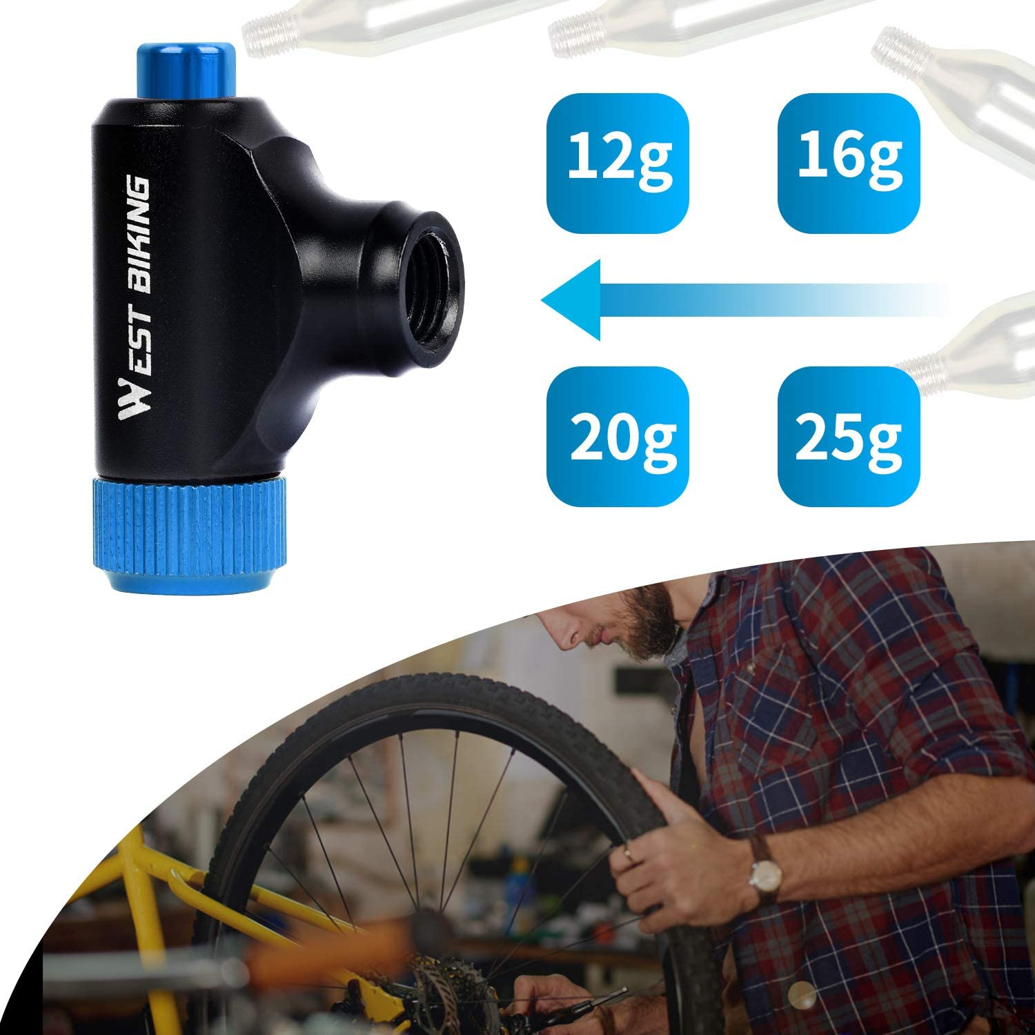 Quick & Easy Button Press Inflation- buy 2 free shipping