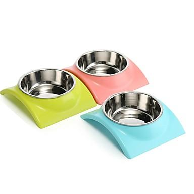 Rodents Dogs Rabbits Bowls & Water Bottles / Food Storage 3 L Plastic Portable Outdoor Food Dogs & Cats Solid Colored Green Blue Pink Bowls & Feeding