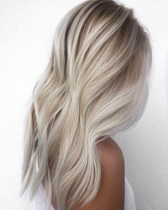 2020 Fashion Ombre Blonde Wigs Bleach Blonde Mullet