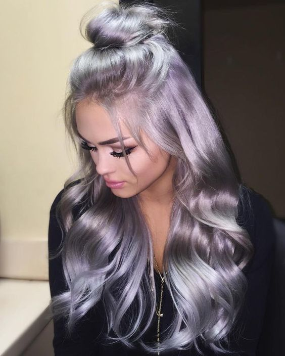 Lace Frontal Wigs For Women Gray Wigs Straight Hair Extension Wet And Wavy Frontal