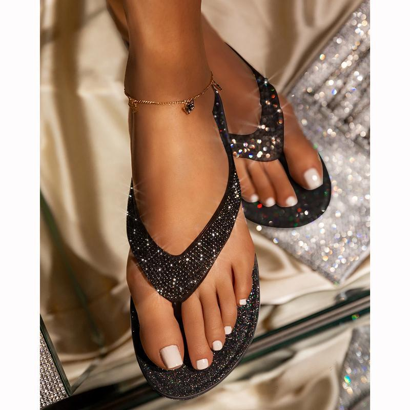 -Summer promotion Only $19.99- Women's Rhinestone Flat Slippers