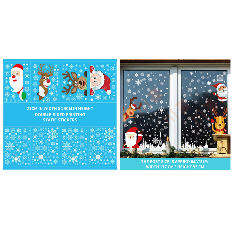 Christmas decoration stickers Glass stickers Christmas decoration window sticker