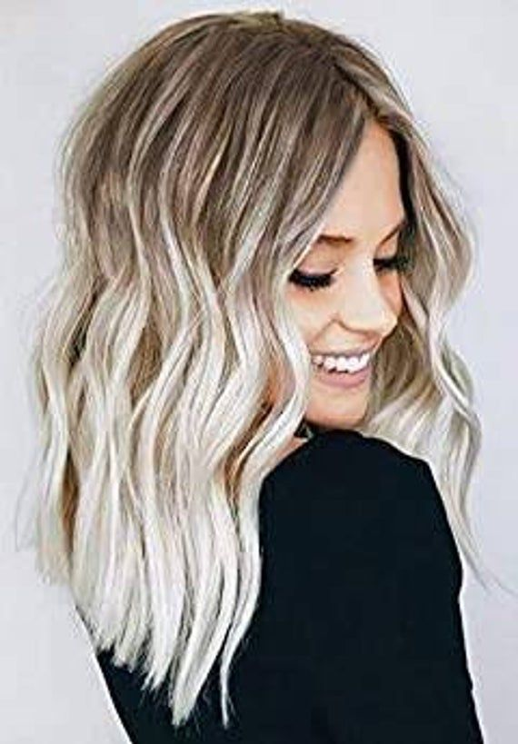 Lace Front Wigs Black And Blonde Highlights 613 Curly Bob Blond Hair Ombre