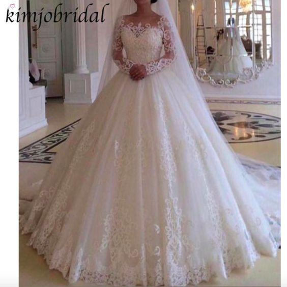 Wedding Dress Casual Mother Of The Groom Dresses For Outdoor Wedding P Mylovecloth,Long Sleeve Ball Gown Plus Size Wedding Dresses