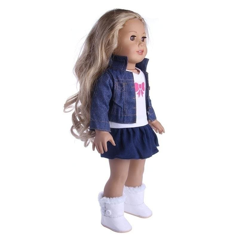 The high-quality fashion suit is suitable for 18-inch American doll clothes, shoes, and the best birthday gift for children.