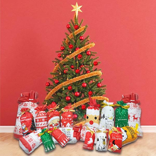 50% OFF-Drawstring Christmas Gift Bags【Buy 30PCS get 70FREE】