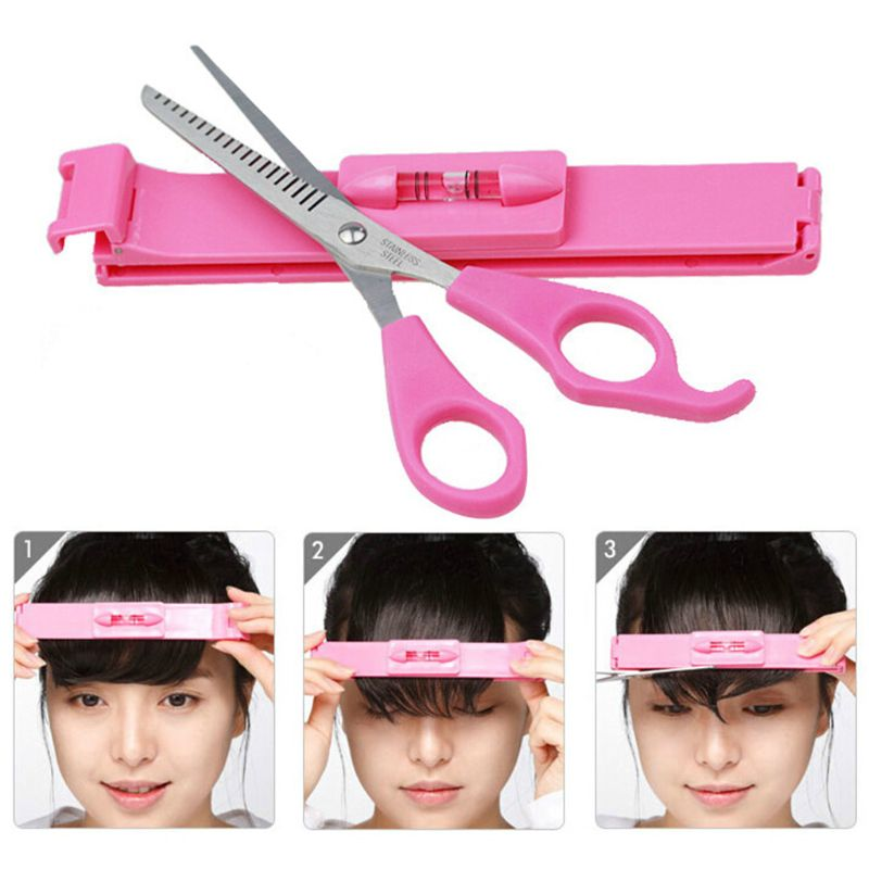 DIY Women Hair Trimmer Fringe Cut Tool