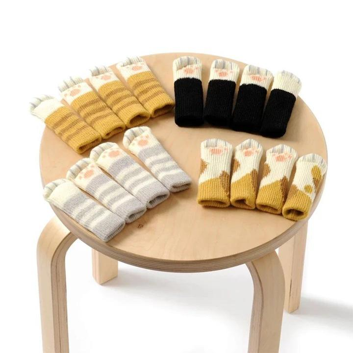 Lovely Cat Paw Table Chair Foot Leg Knit Cover Protector Socks Sleeves