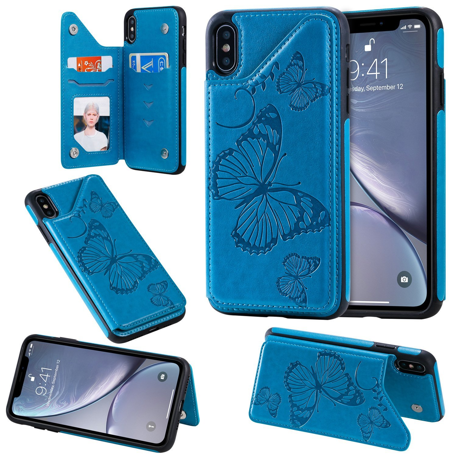 Luxury Embossing Wallet Case For iPhone