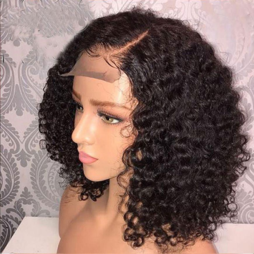 New Arrival Brazilian Curly Lace Front Bob Wig