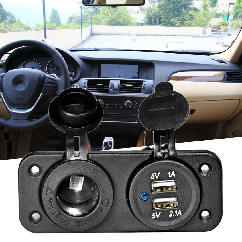 Dual USB Charging Device Car Cigarette Lighter Car Charger Socket Adapter Zz