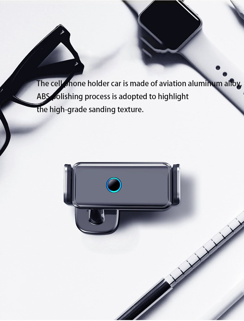 Electric Car Phone Mount ,Auto-Clamping Easy One Touch Locking Car Holder, 360 Degrees