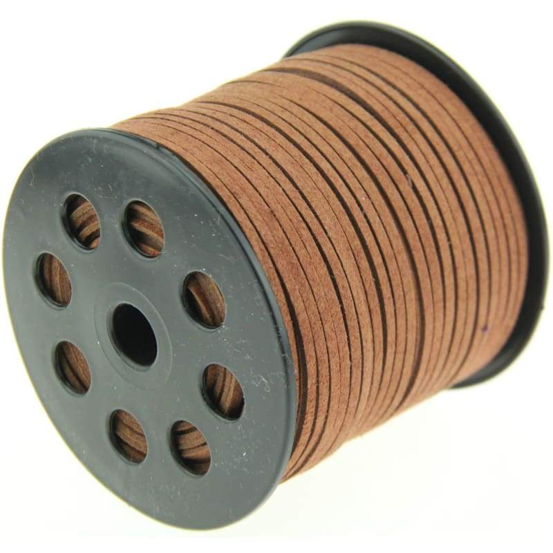 10yd 3mm brown Suede Leather String Jewelry Making Thread Cords hot