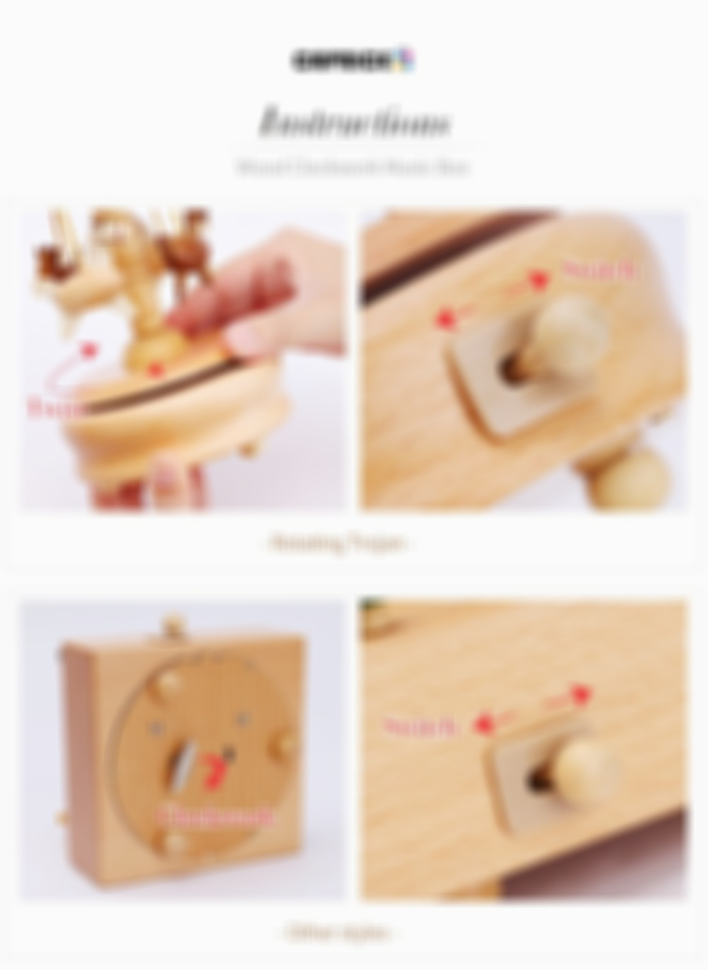 Handmade Wooden Rotating Music Boxes(FREE SHIPPING)