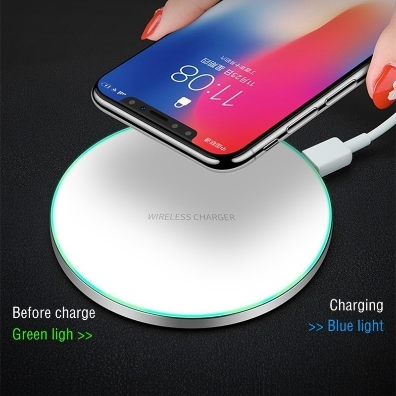 Qi Wireless Charger  for IPhone XS IPhone XR IPhone XS Max IPhone X 8 Plus USB Charging Pad  for Galaxy S8/S8 Plus/S9/S9 Plus Phone Wirless Charger