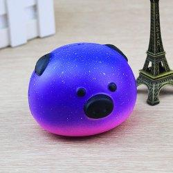 Pretty Squishy Squeeze Simulation Pig Stress Relief Toy 1pc - Deep Blue