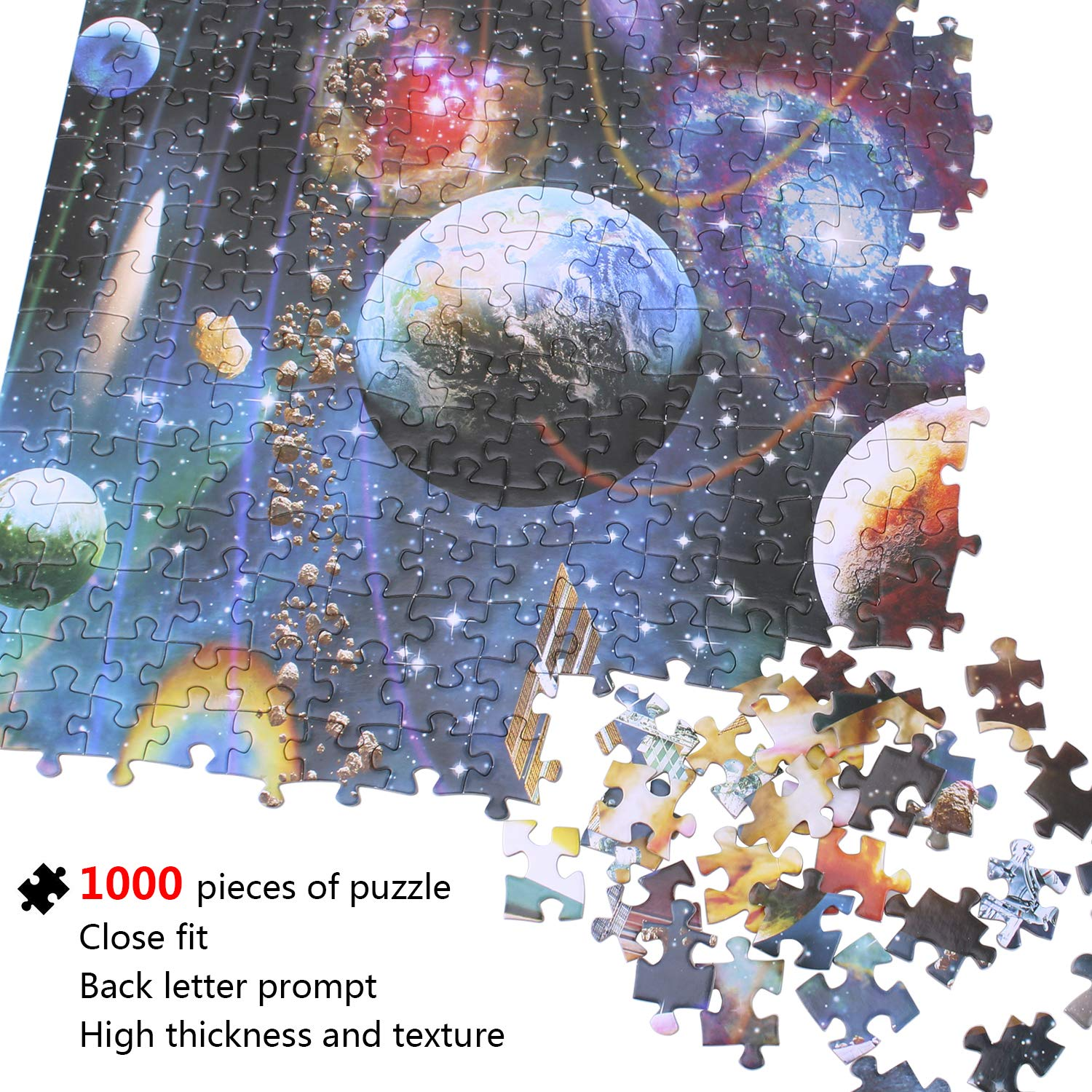 (🔥93.5% of customers bought 3 sets)Space Puzzle 1000 Piece Jigsaw Puzzle for Kids&Adult