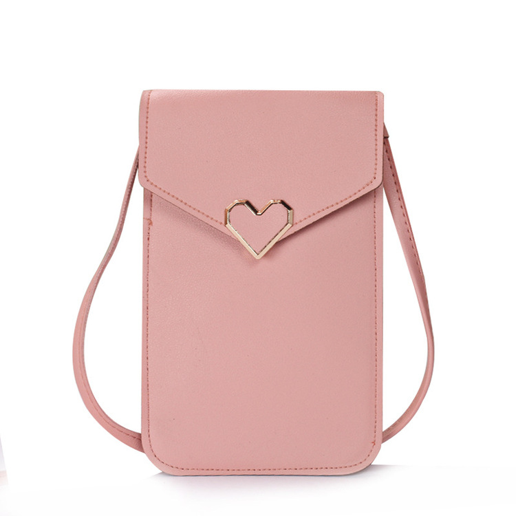 Christmas Special - 7.8 × 4.7 Inch Waterproof Heart-Shaped Lock Touch Screen Purse With Clear Window