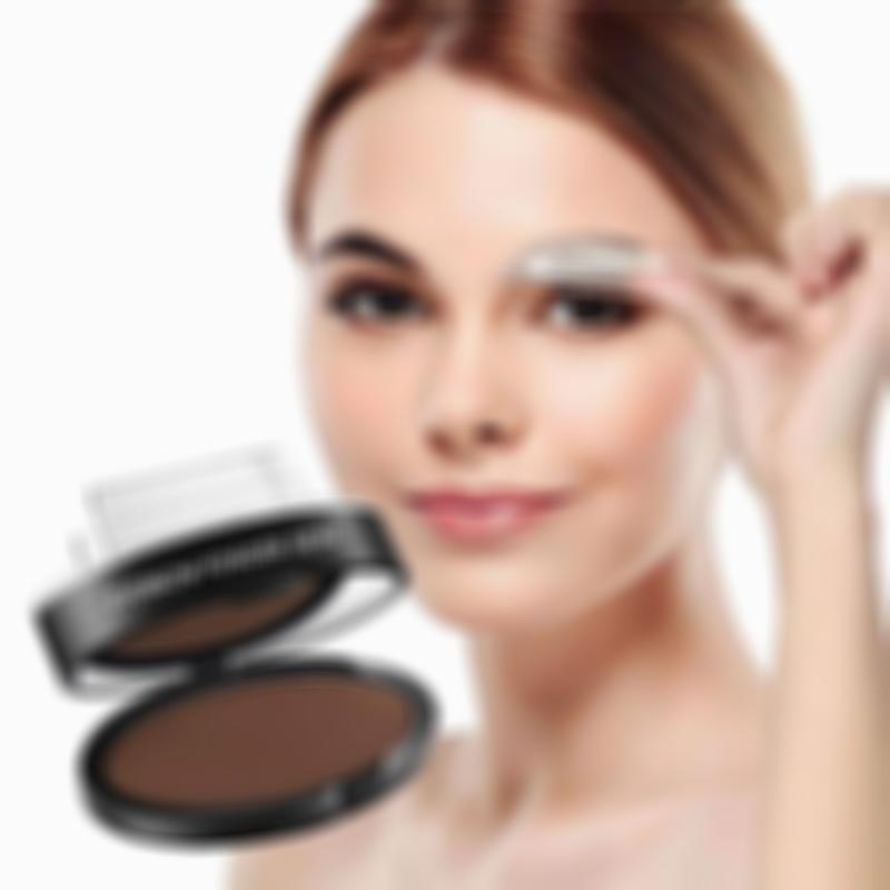 Waterproof Natural Eye Brow Stamp Powder Seal