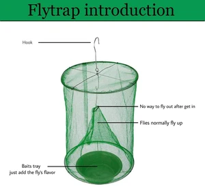 The Ranch Fly Trap Killer Bug Cage Net