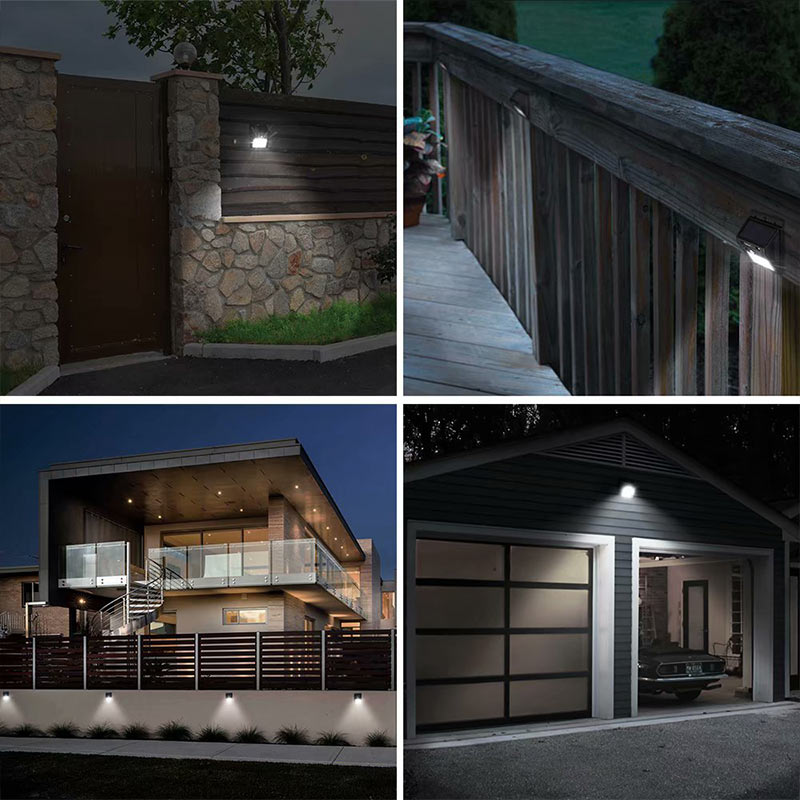 LED Outdoor LED Solar Motion Senso Wireless Outdoor Wall Lights