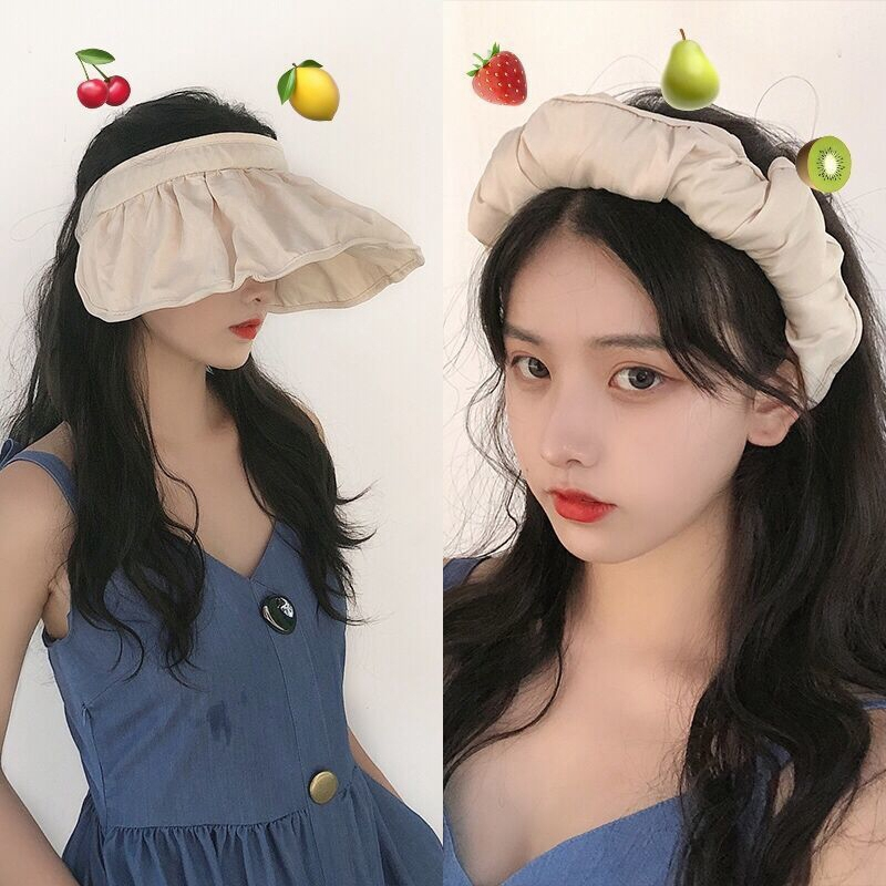 (💖Early Mother's Day Hot Sale-50% OFF) Korean headband shell sun hat