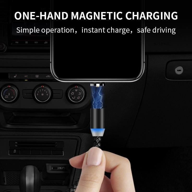 3 In 1 LED Indicator Magnetic Lightning Cable for Iphone Xr 8 7 Micro USB Cable 2m Usb C Cable for Xiaomi Super Fast Charger Cord can Not Transmission Data