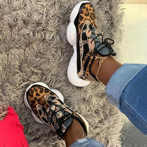Lemmikshoes Fashionable Leopard Casual Sports Sneakers