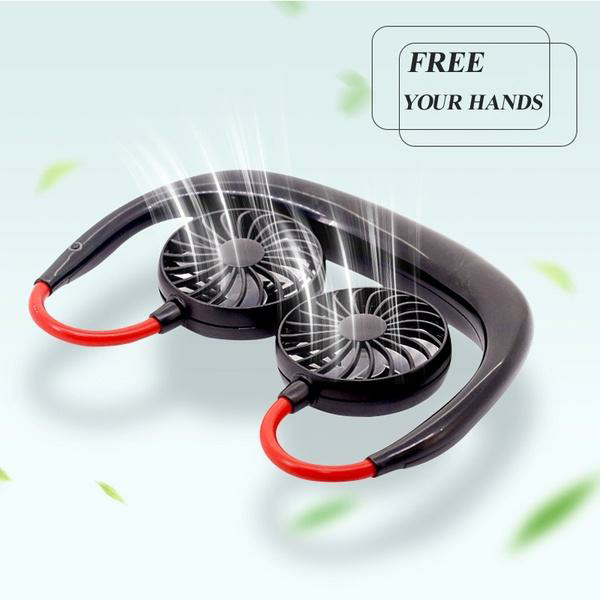50%OFF--Rechargeable Neckband Fan - Keep Cool Wherever You Are!
