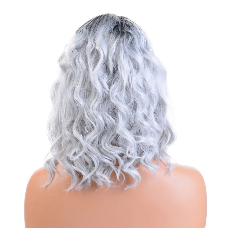 2020 New Gray Hair Wigs For African American Women Dolly Parton Wigs Undetectable Lace Wigs Awig Pink Grey Hair Grey Blonde