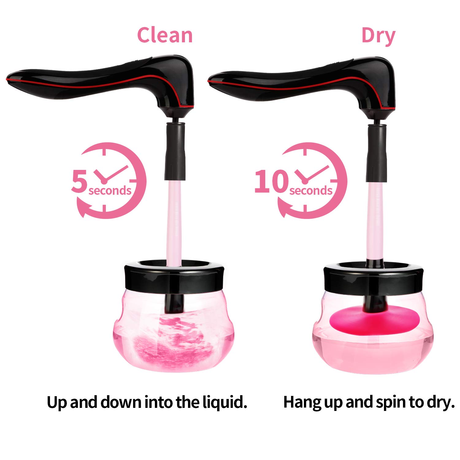 Crazy Flash Deals-Electric Makeup Brush Cleaner Spinner