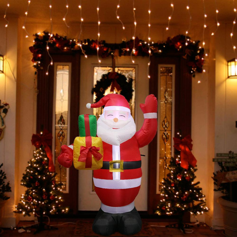 1.5M LED Air Inflatable Santa Snowman claus With Blower Garden Outdoor Layout Christmas Decor Figure Kids Classic Toys