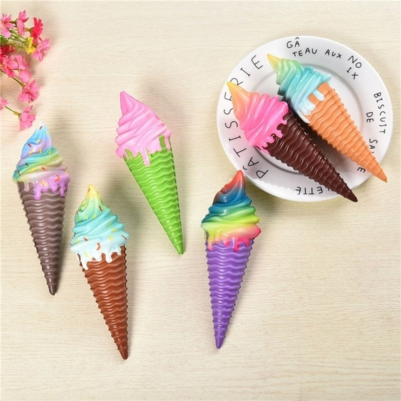 1PC Cute Multicolor Ice Cream Toy for Baby Kids Soft Slow Rising Stress Relief Anti-stress Squeeze Toys