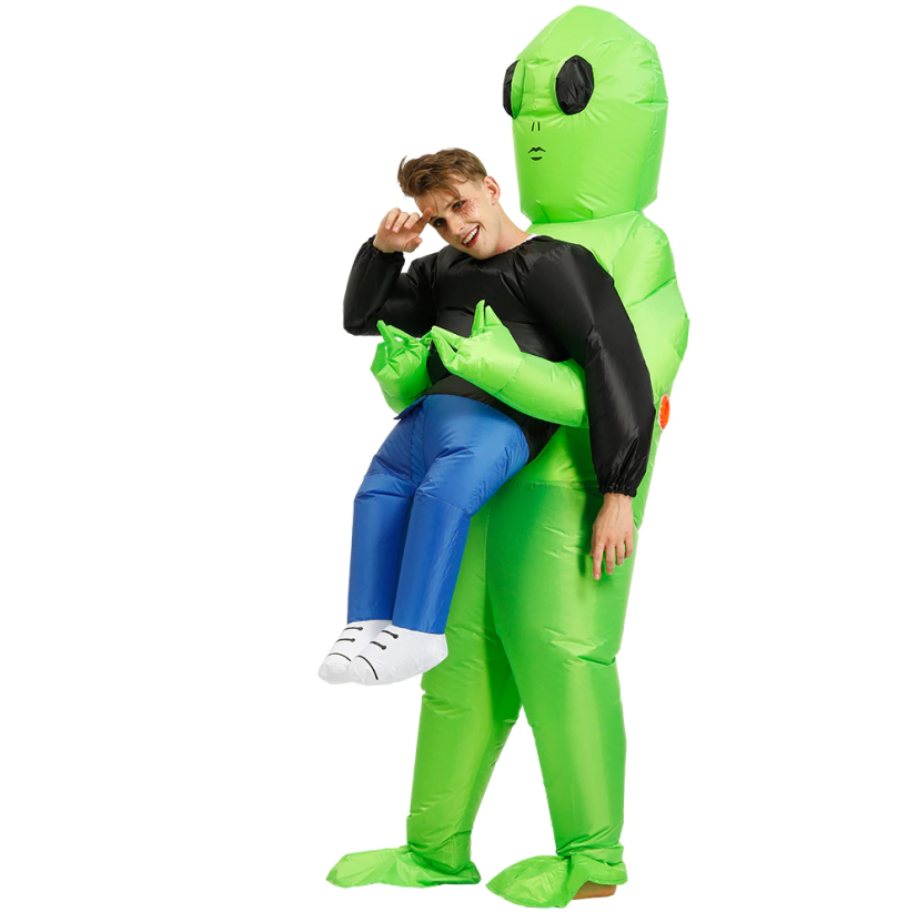 (Halloween pre-sale)Alien Inflatable Costume Whole Body Suit - FREE SHIPPING