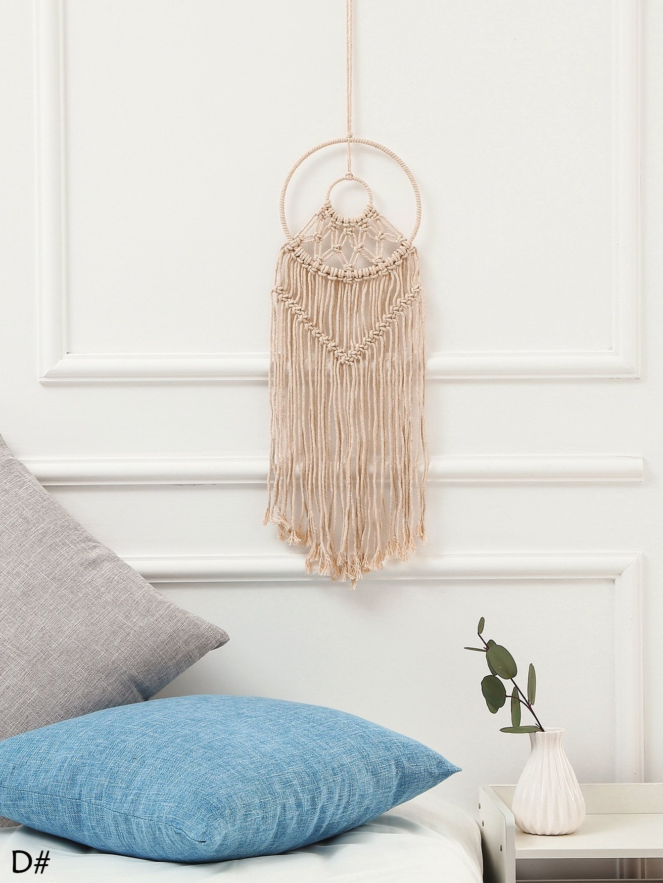 Geometric Woven Tassel Dream Catcher 1pc