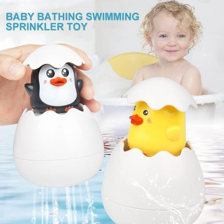 Giantben™  Baby bathing swimming sprinkler toy Easter Egg