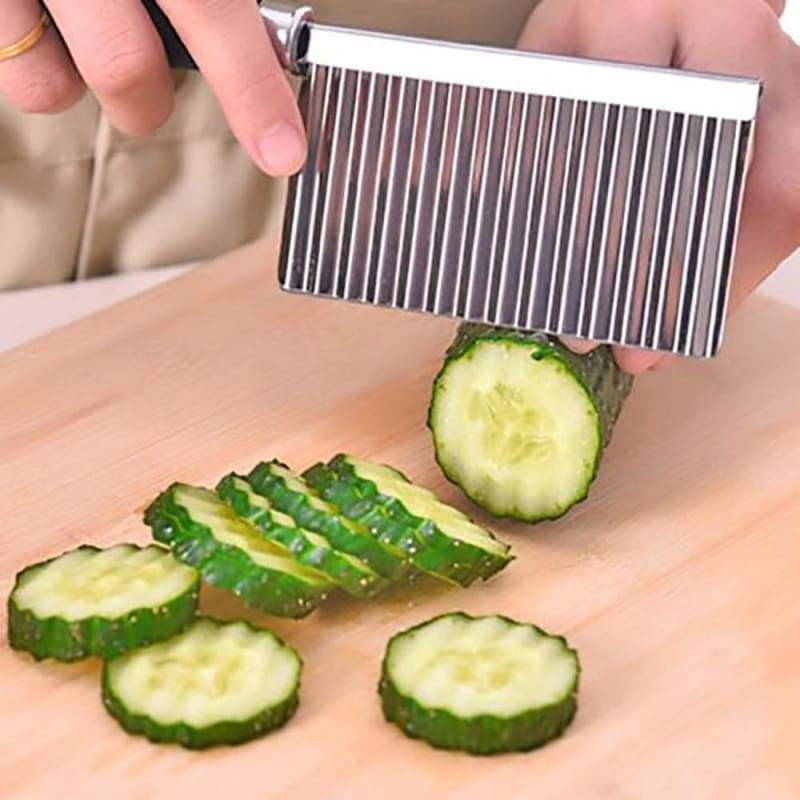 Vegetable fruit potato wavy edged tool stainless steel cutting kitchen gadgets