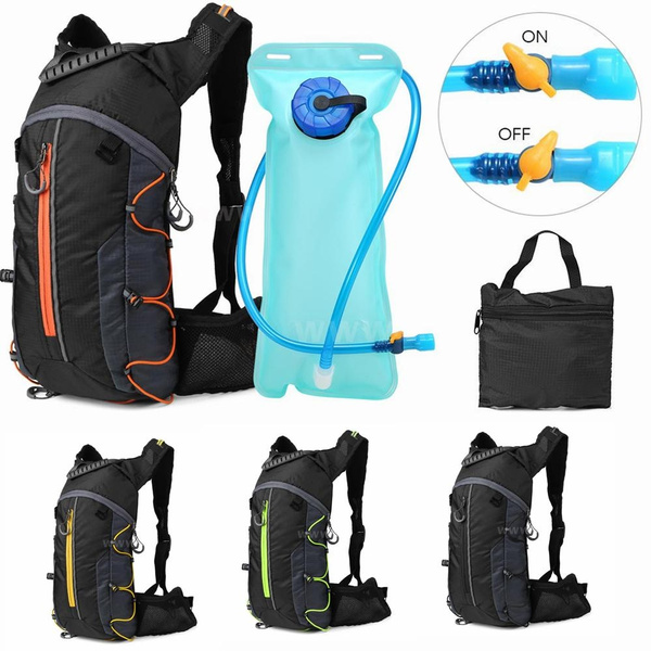 Foldable Cycling Backpack Lightweight Outdoor Sports Bike Riding Hydration Pack Backpack with 2L Water Bladder