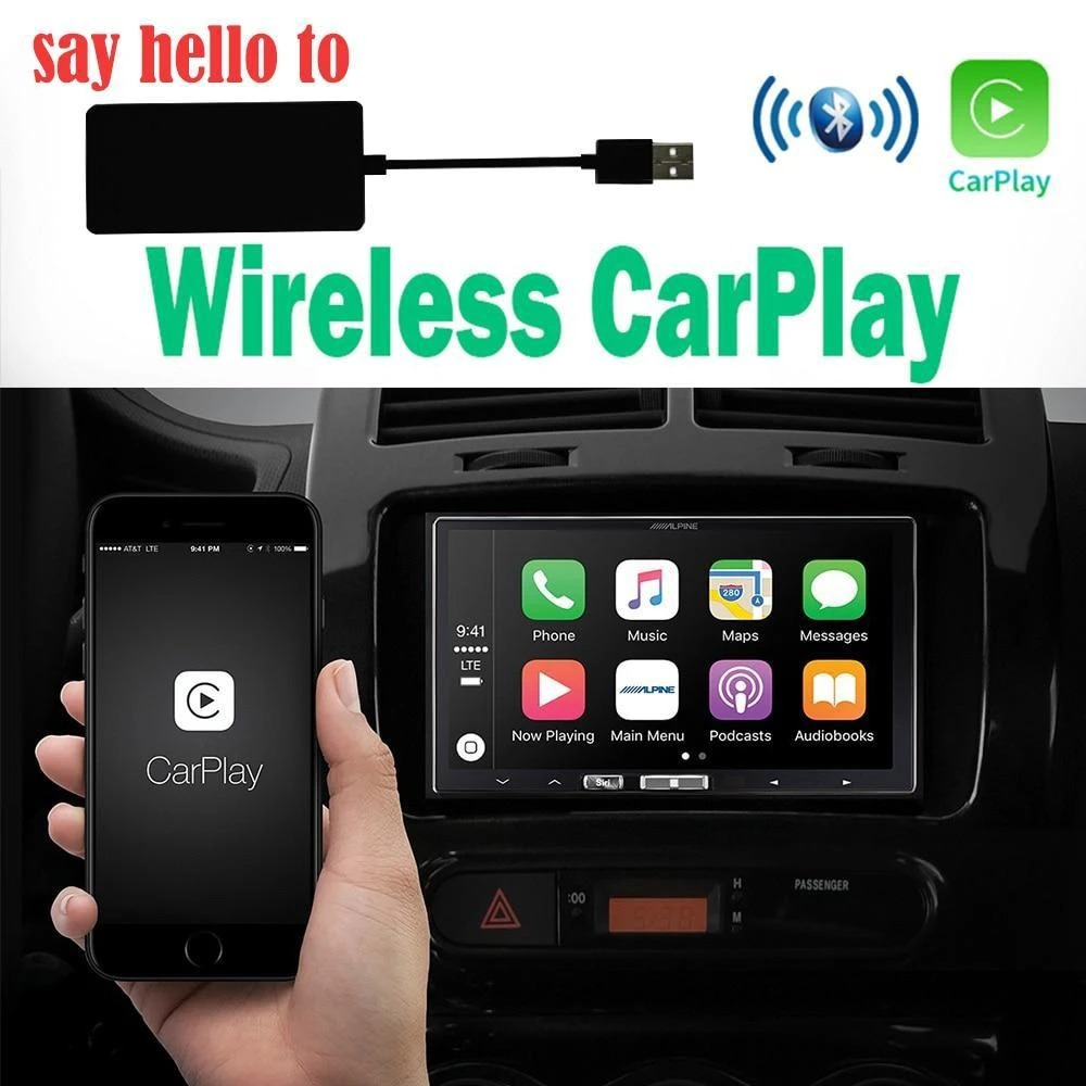 (Christmas Sale Up to 30% OFF )Hands Free And Safe Driving Carplay adapter--Suitable for all car brands
