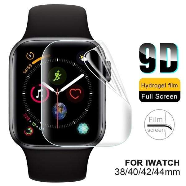 9D Full Cover Screen Protector for IWatch Series 4 Soft Hydrogel Film for IWatch 1 2 3 4 38mm 42mm 40mm 44mm HD Clear Screen Cover Film