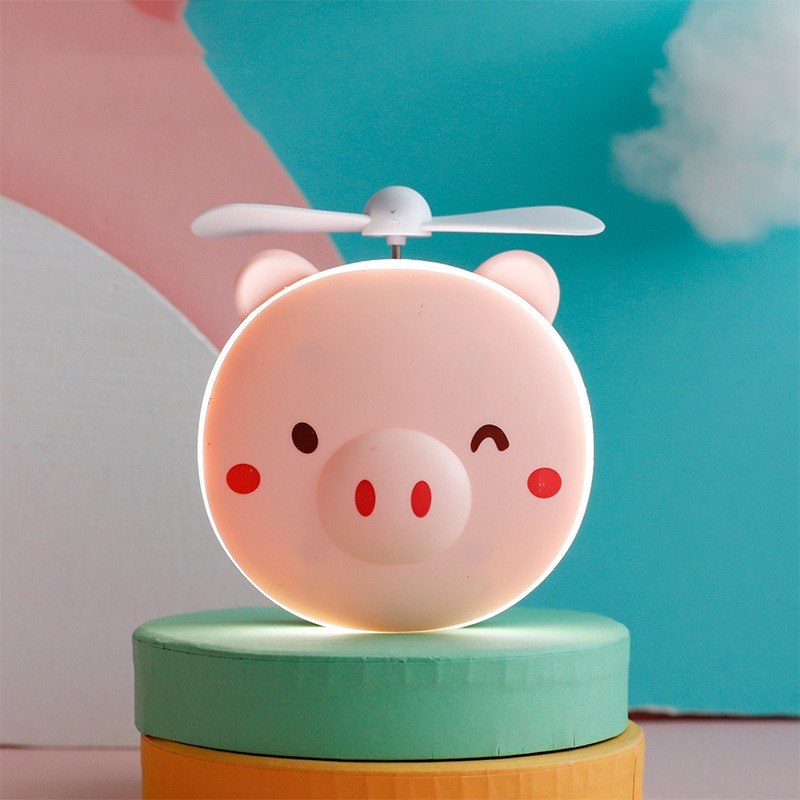 (Children's Day Hot Sale-50% OFF) Piggy Makeup Mirror with Fan (BUY 2 GET 1 FREE)