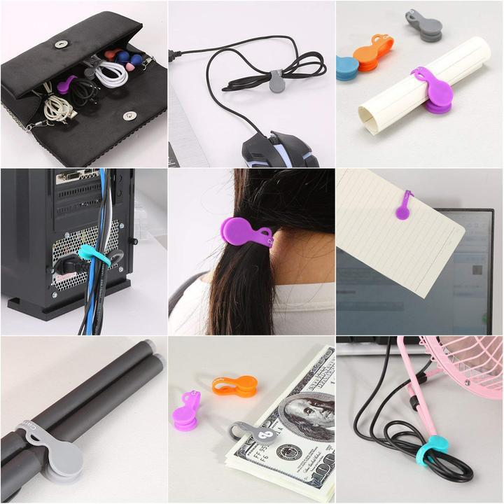 (Hot Sale $2.99 Today)Magnetic Cable Clips Earphone Wrap Cord Organizer