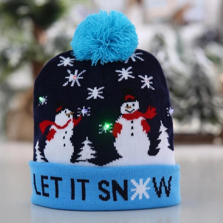 (🎅EARLY XMAS SALE - 50% OFF) Christmas LED Beanies - Buy 3 Free Shipping
