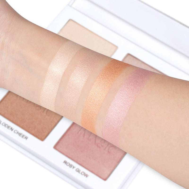 4 Color Highlighter Facial Palette Paraben Free Cruelty Free