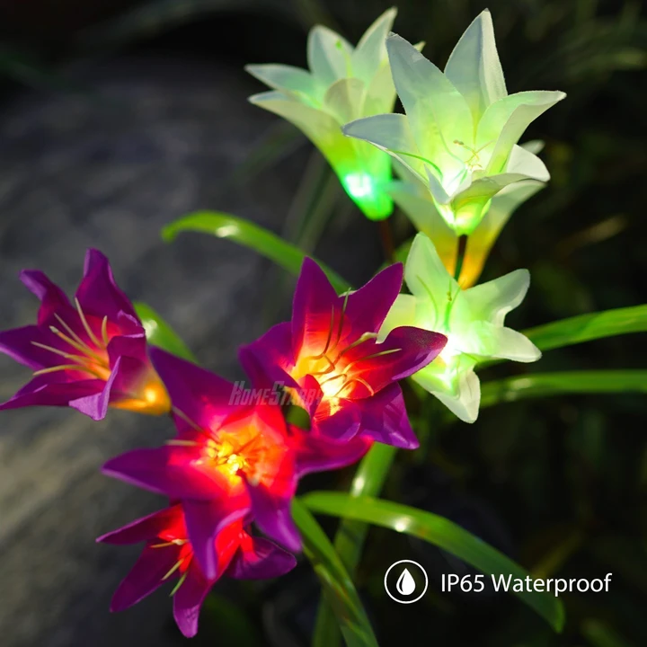 50% OFF--Lily flower solar light(Buy 6 free shipping)