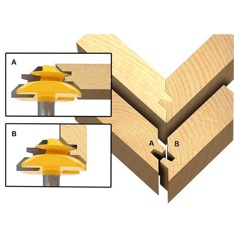 45 Degree Lock Miter Router Bit for Woodworking/Drilling