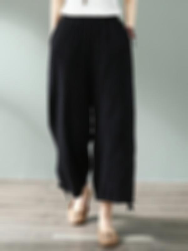 Go Weave Cotton & Linen Wide Leg Pant