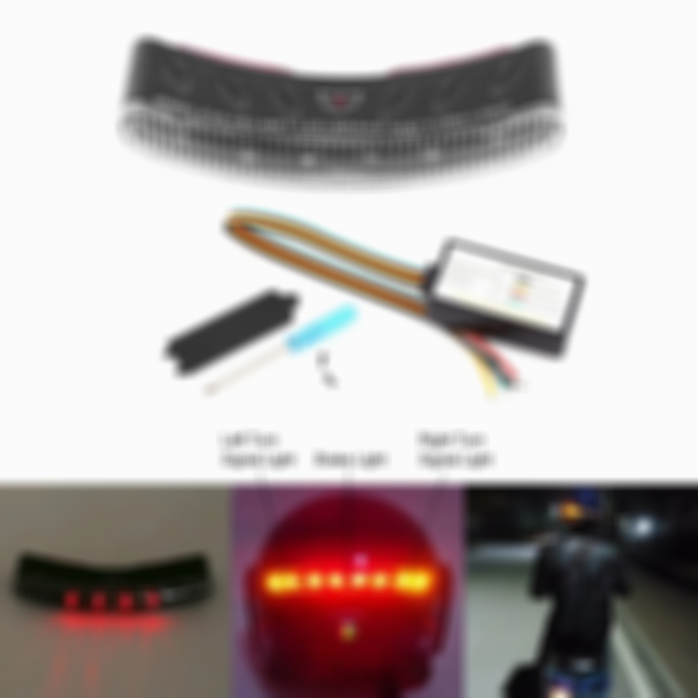 Arosetop  Smart Wireless Motorcycle Helmet Lights LED Brake Turn Signal Light Indicators