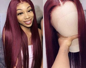 Lace Frontal Wigs Red Hair Red To Orange Hair Ombre Bob Lace Front Wig Sho Madjozi Hairstyles Red Wigs Free Shipping